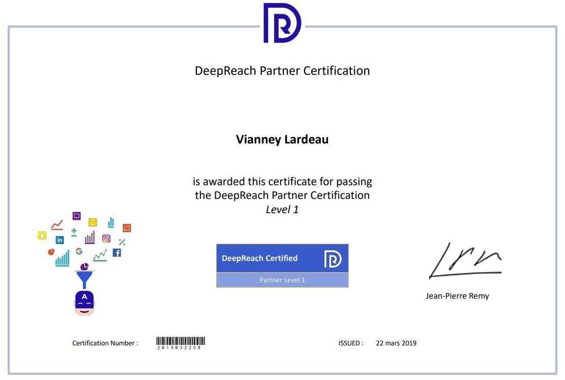 certification agence deepreach