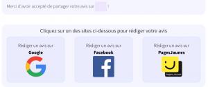 avis clients sur Google Facebook et Pages Jaunes